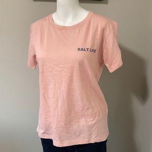Salt Life Pink Crewneck T-shirt